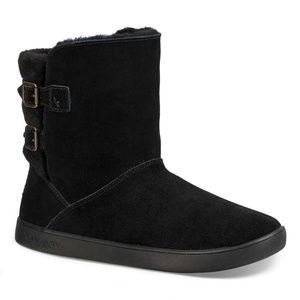 UGG Black Sheepskin & Suede Boot - Women